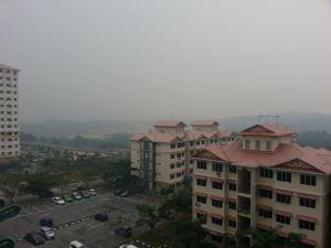 Haze at Taman LTAT, Bukit Jalil, Kuala Lumpur on 25 jun 2013