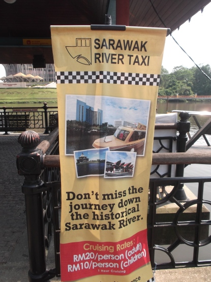 Taxi of a different kind cruising Sarawak River