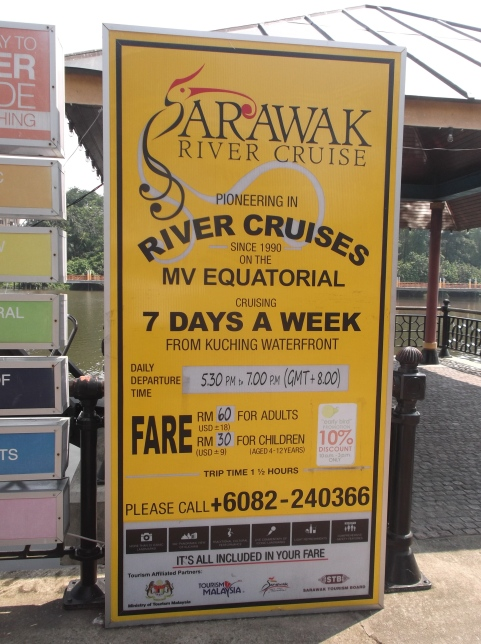 Sarawak River Cruise service on The Equatorial to see Sarawak from the river and also the sunset