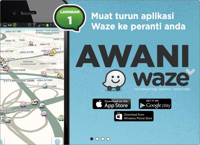 Awani Waze – footsteps……