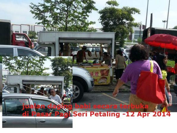 Peniaga Daging Babi di Pasar Pagi Seri Petaling