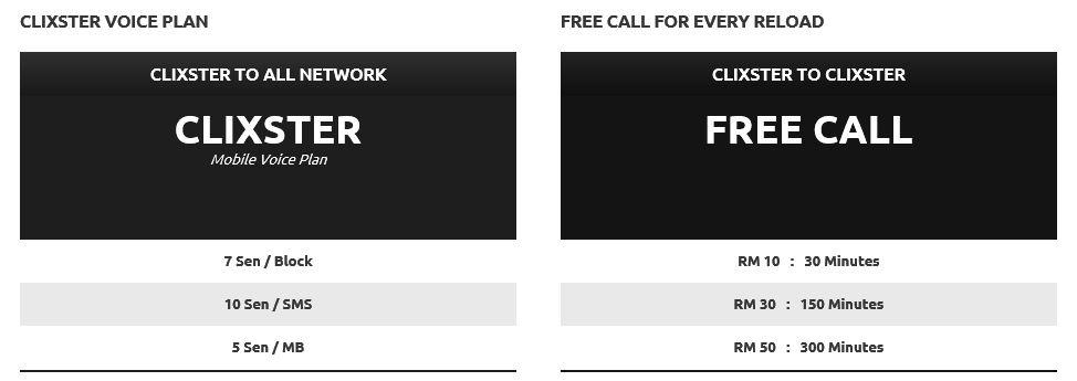 clixster voice plan