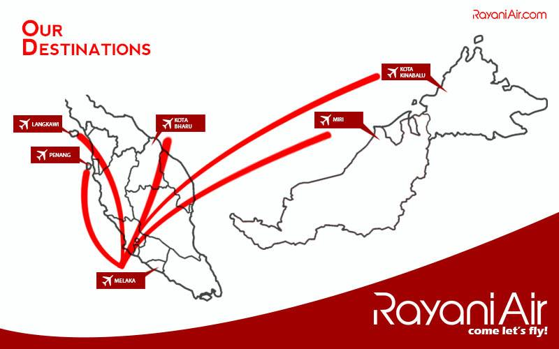 Rayani Air Routes