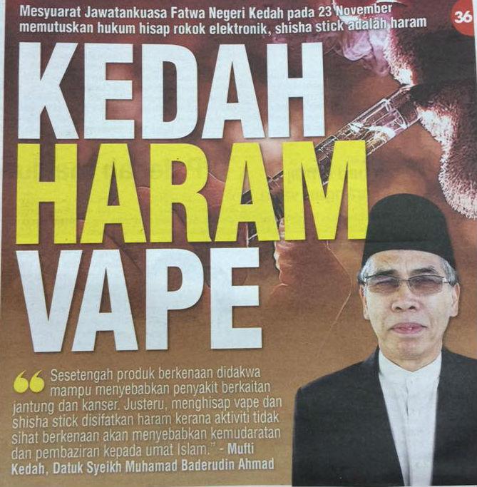 Vape & Shisha : Haram DiKedah